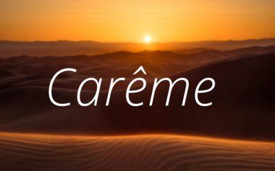 Agenda du Carême 2019